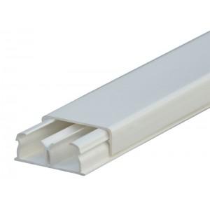 Мини-плинтус DLPlus - 32x12,5 мм - 2 отделения - длина 2,1 м - белый