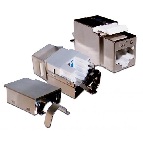Модуль Keystone, RJ45, кат.6, STP, 180 градусов LAN-OK45S6/180