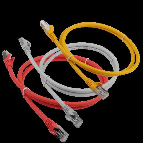 Патч-корд RJ45 кат 6A FTP шнур медный экранированный LANMASTER 3.0 м LSZH синий LAN-PC45/S6A-3.0-BL