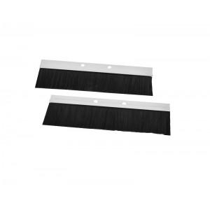 Комплект щеточного ввода в шкаф, универсальный, цвет черный КВ-Щ-55.210А-9005
