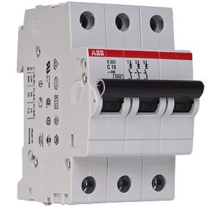 Автоматический выключатель ABB STOS203 C16 3п 16А  6кА (2CDS253001R0164)