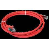 Патч-корд RJ45 кат 5e FTP шнур медный экранированный LANMASTER 1.0 м LSZH красный