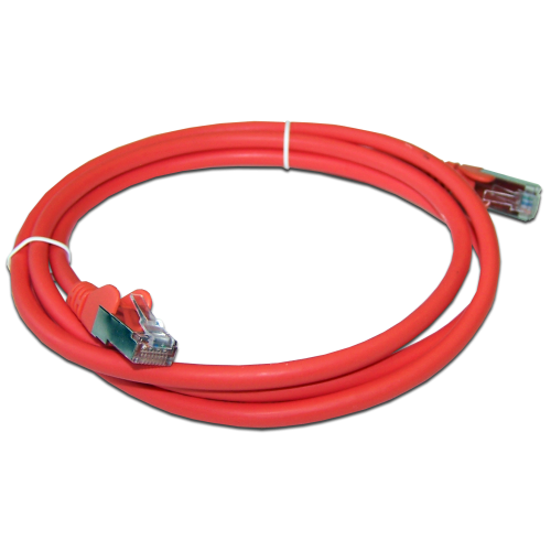 Патч-корд RJ45 кат 5e FTP шнур медный экранированный LANMASTER 1.0 м LSZH красный LAN-PC45/S5E-1.0-RD