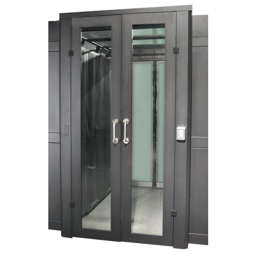 Распашная дверь коридора 1200 мм для шкафов LANMASTER DCS 42U, стекло, без замка LAN-DC-HDRM-42Ux12