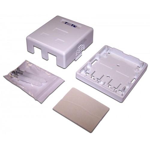 Настенная коробка 2 порта для Keystone TWT-SA2-WH