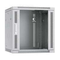 """Cabeus SH-05F-12U60-45 Шкаф настенный 12U 19"""" 600x450 телекоммуникационный дверь стекло серый"""