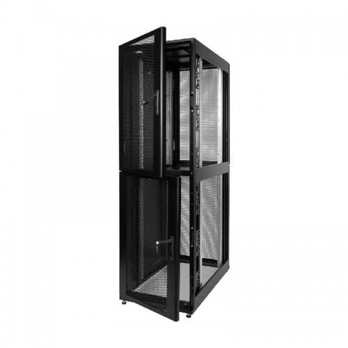 Шкаф ЦМО серверный ПРОФ напольный колокейшн 46U (600x1000) 2 секции, дверь перфор. 2 шт., в сборе ШТК-СП-К-2-46.6.10-44АА-Ч