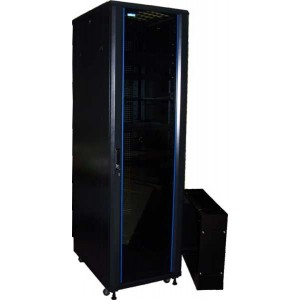 """TWT-CBB-27U-6x8 Шкаф 19"""" напольный 27U 600x800, без дверей, с боковыми стенками черный разборный TWT"""