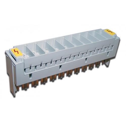 Магазин защиты для плинтов, 10 пар, 3-полюсный, БЕЗ РАЗРЯДНИКОВ (использовать разрядники TWT-SA3-230 TWT-LSA10-MAG