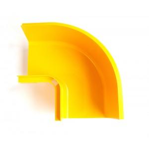 Горизонтальный поворот 90° оптического лотка 120 мм, желтый