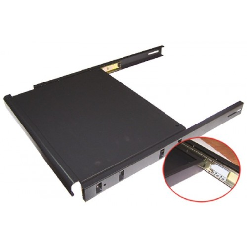 Полка для клавиатуры выдвижная 4 точки, для напольных шкафов глубиной 600 мм, нагрузка - 20 кг TWT-CBB-SK-6/20