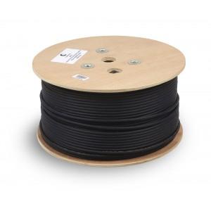 Кабель витая пара экранированная STP (U/FTP), кат. 6a (10GBE), 4 пары, (23 AWG), внешней прокл. 305м