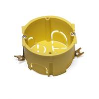 Подрозеточная коробка в стену для суппорта 45х45, желтая