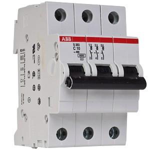 Автоматический выключатель ABB STOS203 C10 3п 10А  6кА (2CDS253001R0104)