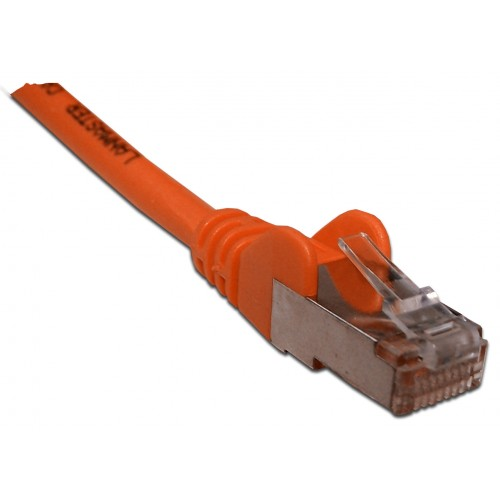 Патч-корд RJ45 кат 6 FTP шнур медный экранированный LANMASTER 1.5 м LSZH оранжевый LAN-PC45/S6-1.5-OR