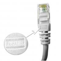 Патч-корд RJ45 UTP кат 5Е шнур медный LANMASTER 1.0 м белый