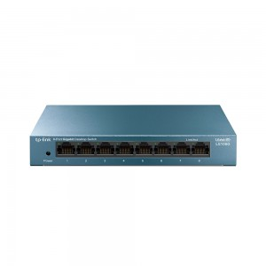 8-портовый 10/100/1000 Мбит/с настольный коммутатор.