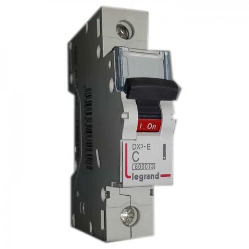 Автоматический выключатель Legrand  DX3-E C63 1П 6kA (407269) 407269