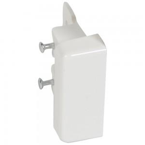 Заглушка торцевая - для мини-плинтусов DLPlus 40x20 - белый