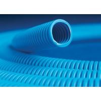Труба гофрированная 32мм с протяжкой, ППЛ (бухта 25м), цвет синий