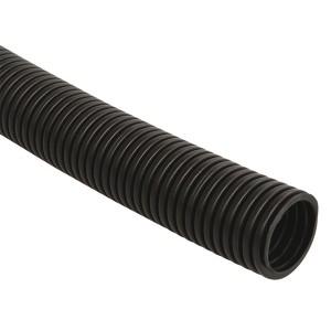 Труба гофрированная ПНД 16мм с зондом (100 м) ИЭК черный