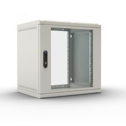 """Шкаф ЦМО 19"""" телекоммуникационный настенный 6U (600х480) дверь стекло ШРН-6.480"""