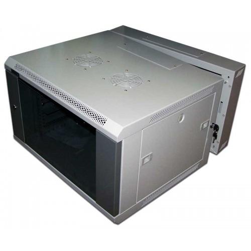"""Шкаф TWT настенный 19"""" 3-секционный, 9U 600x600, металлическая дверь TWT-CBW3-9U-6x6-M"""