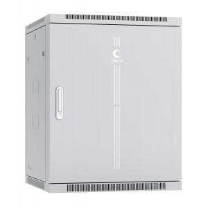 """Шкаф 19"""" 15U 600x600 Cabeus телекоммуникационный настенный, металлическая дверь, серый, разборный"""