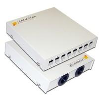 Кросс оптический LANMASTER настенный, металлический, на 8 SC адаптеров