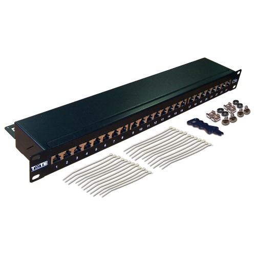 """Патч-панель  24 порта 19 """", STP, кат.6, 1U,  TWT TWT-PP24STP/6"""