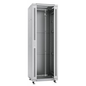 """Cabeus SH-05C-37U60/100 Шкаф 19"""" 37U напольный телекоммуникационный 600x1000 серый, дверь стекло"""