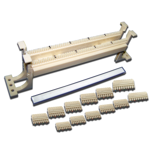 50-парный 110 настенный кросс LANMASTER, блоки и ножки в комплекте