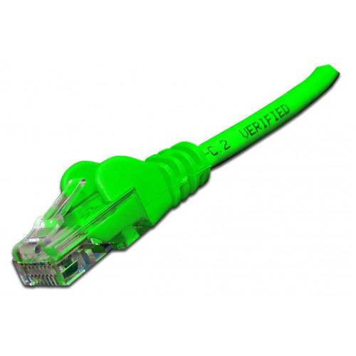 Патч-корд RJ45 UTP кат 6 шнур медный LANMASTER 10.0 м LSZH зеленый LAN-PC45/U6-10-GN