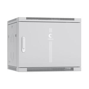 """Cabeus SH-05F-9U60/60m Шкаф 19"""" 9U 600x600 телекоммуникационный настенный, металлическая дверь серый"""