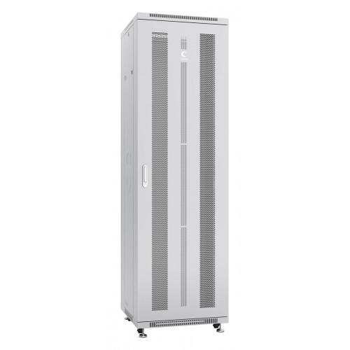 """Cabeus Шкаф 42U телекоммуникационный 19"""" напольный 600x1000 перфорированные двери, ручка с замком, цвет серый (RAL 7035) ND-05C-42U60/100"""