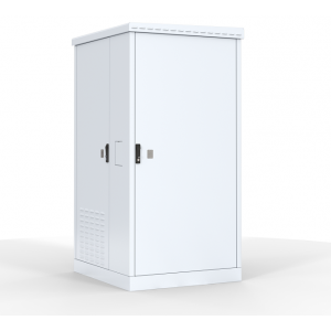 """Шкаф уличный 19"""" всепогодный напольный 18U (Ш1000хГ900) с электроотсеком, три двери"""