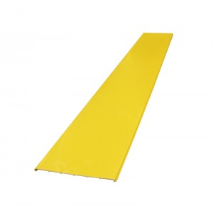 Крышка прямой секция оптического лотка, 100x240 мм, 2 метра, желтая