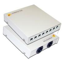 Кросс оптический LANMASTER настенный, металлический, на 8 FC адаптеров