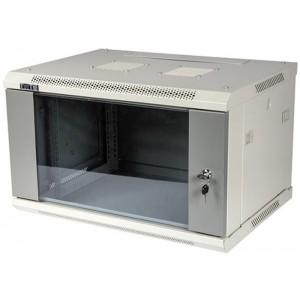 """Шкаф 6U 600x800 настенный 19"""" TWT серии Pro, стеклянная дверь разборный"""