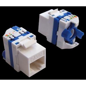 Модуль Keystone Tooless, RJ-45, кат.5E, UTP, 180 градусов, белый, LAN-TK45U5E/180-WH