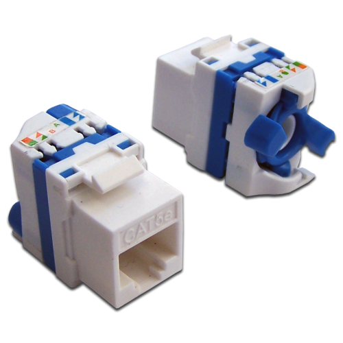 Модуль Keystone Tooless, RJ-45, кат.5E, UTP, 180 градусов, белый, LAN-TK45U5E/180-WH LAN-TK45U5E/180-WH