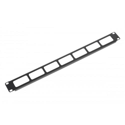 """Органайзер кабельный горизонтальный 19"""" 1U с окнами для кабеля, цвет черный ГКО-О-1-9005"""