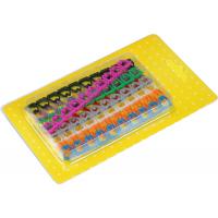 Набор цветных маркировочных кабельных клипс с цифрами, для кабелей диаметром до 6.5 мм