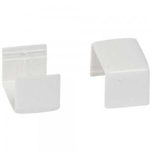 Накладка на стык - для мини-плинтусов DLPlus 20х12,5 - белый