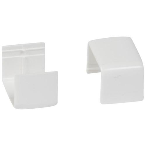Накладка на стык - для мини-плинтусов DLPlus 20х12,5 - белый 33602