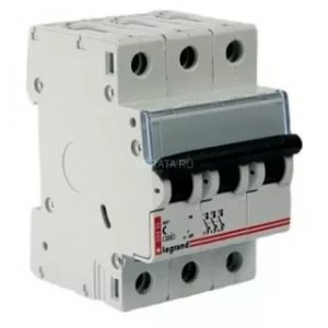 Автоматический выключатель Legrand 3п 63А  6кА (L03457)