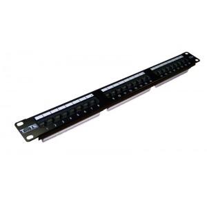 """TWT Патч-панель 19"""" 24 порта RJ45 1U UTP, кат.5E TWT-PP24UTP"""
