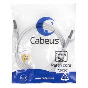 Cabeus PC-FTP-RJ45-Cat.5e-1m Патч-корд F/UTP, категория 5е, 2xRJ45/8p8c, экранированный, серый, PVC