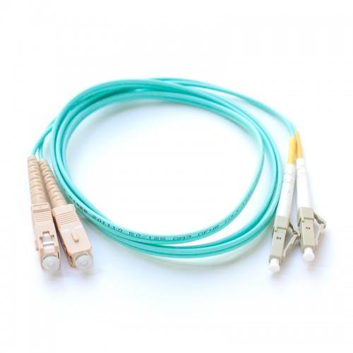 Патч-корд оптический дуплексный SC-LC многомод OM3 1м MDX-2SC-2LC/1-OM3