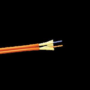 Кабель 2 волокна внутренний, ZIP cord, LSZH, MM OM4, пурпурный